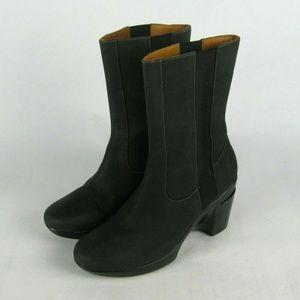 COLE HAAN Nike Air Sara Black Leather Boots 7 B